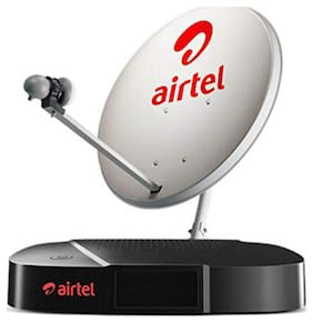 Airtel Digital TV HD Set Top Box with Recording plus 1 month SD Value Sports Pack