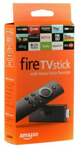Amazon Fire Stick with Alexa Voice Remote Streaming TV Media Player Firestick