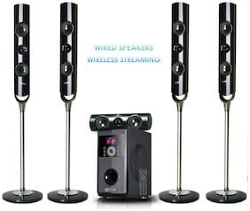 beFree 5.1 Channel Surround Sound Bluetooth Streaming Speaker System USB FM SD