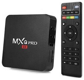 Crystal Digital  MXQ Pro 4k Android 7.1 Smart Android TV Box With Amlogic S905W Quad Core 64 bit Cortex, 1Gb  DDR3 RAM/8Gb ROM, Wifi 4K Video Support