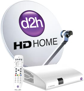 D2H HD Box + RF Remote with 1 month Gold HD pack Gujarati