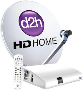 d2h HD Set Top Box + Remote With 1 Month Gold HD Malayalam Combo Subscription Pack Free