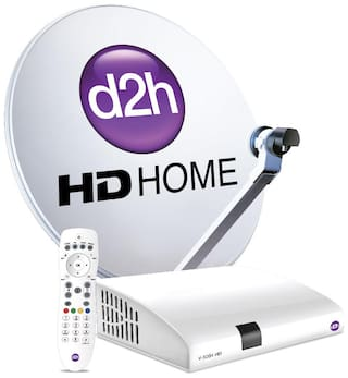 d2h HD Set Top Box + Remote | DTH Connection With 1 Month Subscription of FTA Pack