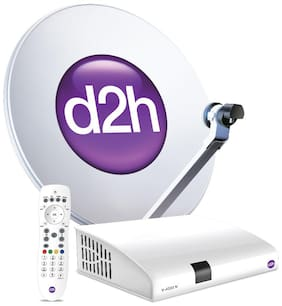 d2h SD Set Top Box + Remote With 1 Month Gold Kannada Combo Subscription Pack Free
