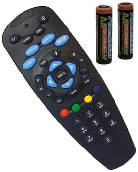 Darahs DTH Set Top Box Remote( Without Recording Feature) Works for TATA Sky SD/HD/HD+/4K DTH Set Top Box Remote Control (Pairing Required to Sync TV Functions)