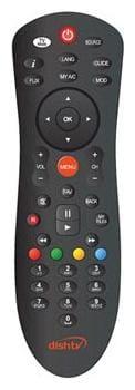 Dish Tv Set Top Box D2H SD/HD 2 in 1 Remote Black