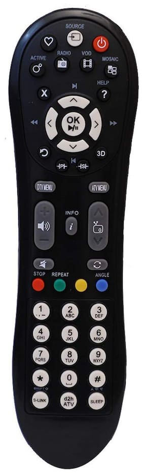 EHOP Compatible VIDEOCON D2H Set Top Box Remote Combined with LCD LED TV (3D Supported), Videocon D2H DDB Set Top Box - Old Remote Must be Exactly Same