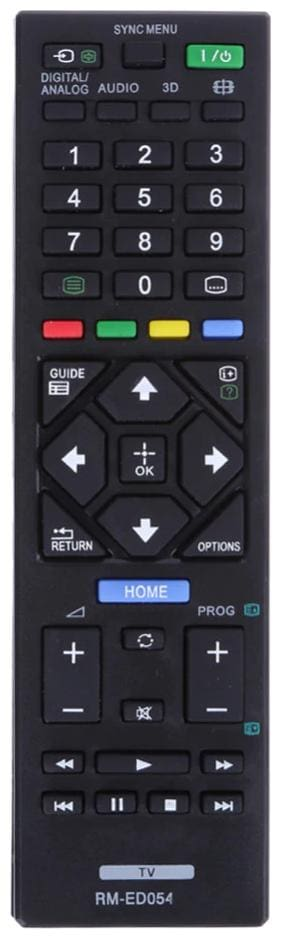 EHOP Compatible Remote Controll for Sony Bravia LED LCD TV with 3D Button (Black) Universal  RM-ED054