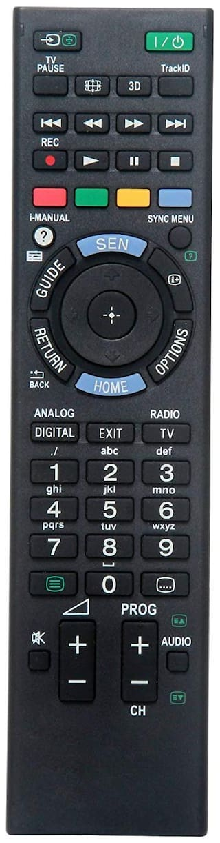 EHOP Compatible Remote Control for Sony Bravia LCD/led Remote Works with Almost All Sony led/LCD tv (Black)