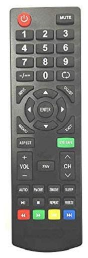 EHOP Compatible Remote Control for for Intex LED/LCD Tv (Intex sp-1480) (Please Match The Image with Your Old Remote)