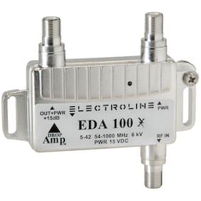 Electroline EDA100 Low Noise CATV MINI Amplifier +15dB