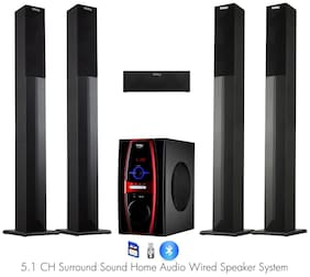 Frisby FS-6600 5.1 Surround Sound Home Theater Tower Speaker System w Bluetooth