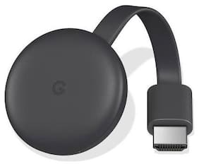 Google Chromecast 3 Media Streaming Device  (Black)