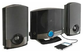 GPX Audio HM3817DTBLK Wall Mountable Music System CD/Radio/Aux Motorized Door