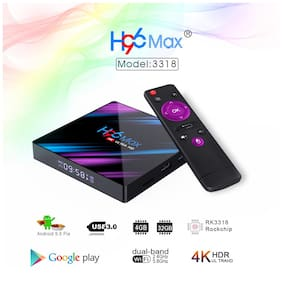 H96 MAX RK3318 4GB RAM 32GB ROM Android 10 Dual Band Wifi Bluetooth 4K HDR Smart TV Box Media Streaming Device