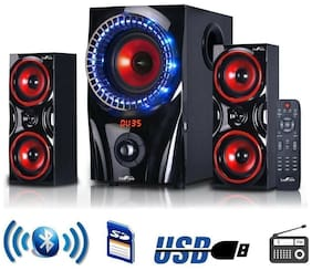 Home Audio Stereo Theater Wireless System Speakers Bluetooth Bass Sound USB FM