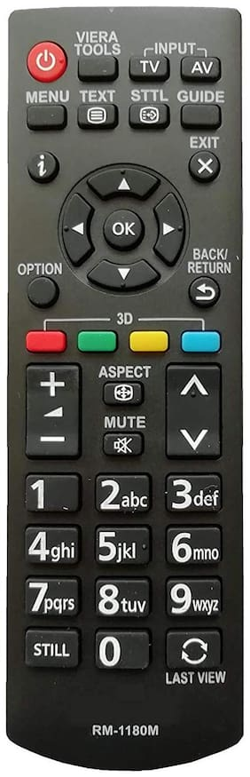 Hybite RM-1180M Universal LED LCD TV Remote Control with Viera Tools Function Compatible for Panasonic LED TV LCD TV & Plasma TV