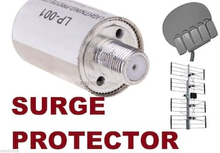 INLINE COAXIAL CABLE SURGE PROTECTOR RG6 RG59 COAX FOR SATELLITE OTA HD ANTENNA