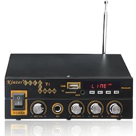 Kinter T1 2X25W Digital bluetooth Stereo Amplifier Support TF FM USB Microphone