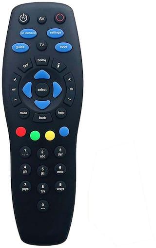 MASE Compatible TATA SKY Standard Defination Set Up Box Remote Controller  (Black)