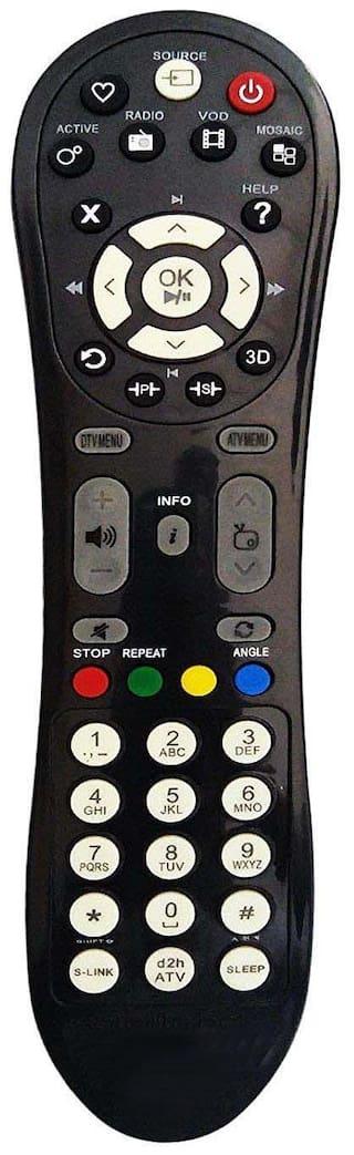 MASE Compatible Videocon D2H Remote for Inbuilt Set-Top Box LED/LCD TV 3D Supported D2H Inbuilt Remote Controller  (Black)