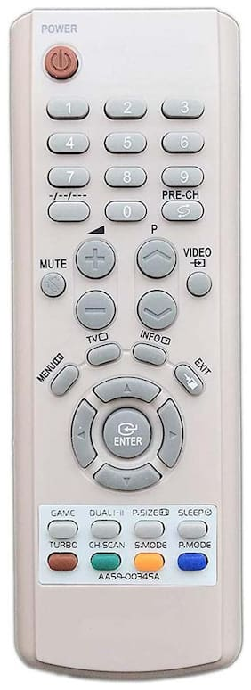 MASE Compatible Samsung CRT TV AA59-00345B,AA59-00345C AA59-00345A Remote Controller  (White)