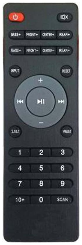 MASE IBALL Home Theater COMPITIBLE Remote Controller  (Black)