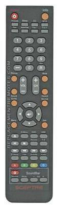 NEW Sceptre Remote Control for  E243, E243BDFHD, E243BVFHD, E243CVFHD, E243LVFHD