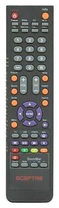 NEW Sceptre Remote Control for E555BVFMQC, E555BVFMQR, E558BVFMQR, U405CVUMS