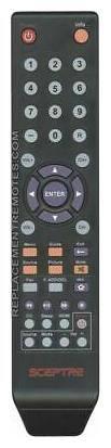 NEW Sceptre Remote Control for  E246BDFC, E246BDSMQK, E246BVFC, E246BVSR