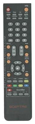 NEW Sceptre Remote Control for  E165BDHD, E165BVHD, E195BDSHD, E195BVSHD