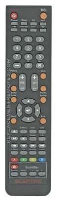 Original Sceptre Remote Control for E245RDFHDR, E245WDFHDR, E325BDHD, E325BDHDC
