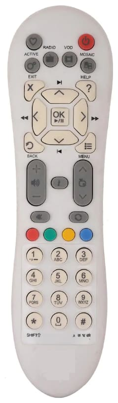 OSSDEN COMPATIBLE REMOTE CONTROL FOR VIDEOCON D2H SD WHITE SET TOP BOX 1PC