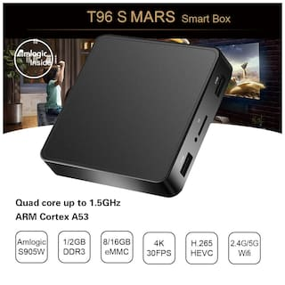 Profitech Communication T96S Mars Amlogic S905W Quad Core (2GB RAM 16GB ROM) Android 9.0 4K HD 2.4GHz / 5.8GHz Dual Band WiFi Android TV Box