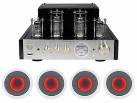 "Rockville BluTube Amplifier/Home Theater Receiver+(4) 6.5"" LED Ceiling Speakers"