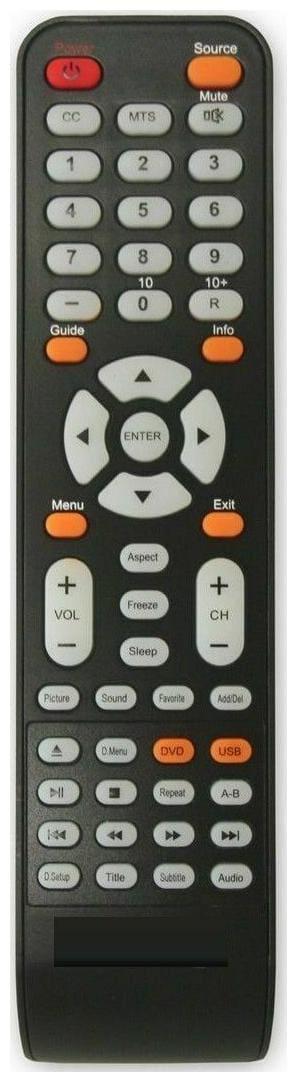 Sceptre TV Remote Control X32, E243BDFHD, E195BDSHD, E165BDHD, E325BDHD