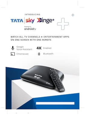 Tata sky Binge plus connection with Hindi Lite HD pack