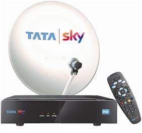 Tata Sky HD Box With Semi-Annual Gujarati Hindi Basic HD Pack