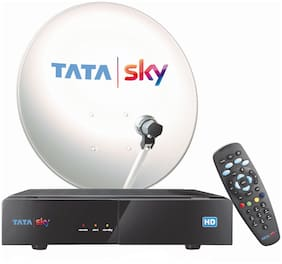 Tata Sky HD Box with One Month Family Kids Sports Pack