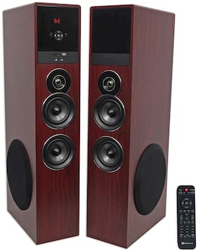 """Tower Speaker Home Theater System+8"""" Sub For Sharp Smart Television TV-Wood"""
