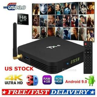 TX6 TV BOX H6 4GB+64GB Android 9 0 Bluetooth 4K Quad Core WiFi Home Audio  Media