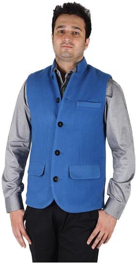 Owncraft Bright Blue Nehru Jacket