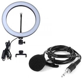 10-inch Dimmable 3-Modes LED Ring Light with Collar Mic For Tiktok Videos