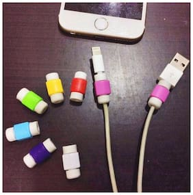 10 Pcs. Iphone Cable Protector Saver For Iphone Ipad Lightning Usb Data Charging Cable Protector (Assorted colors)