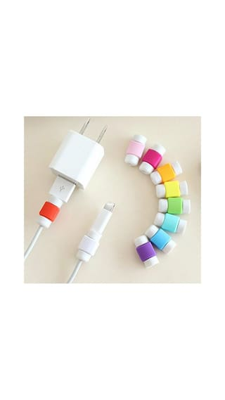 10 Pcs. Iphone Cable Protector Saver For Iphone Ipad Lightning Usb Data Charging Cable Protector (MultiColor)