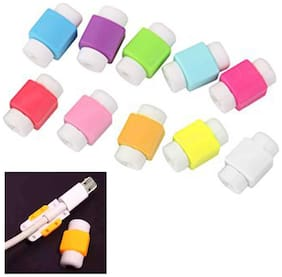 10 Pcs. Iphone Cable Protector Saver For Iphone Ipad Lightning Usb Data Cable Protector (Assorted Colors)