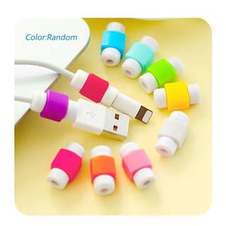 10pcs. Cable Protector & Saver for Apple iPhone iPad Lightning USB Data Charging Cable ( Assorted Colors )