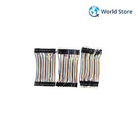 120Pcs Color Ribbon Line Breadboard Cable Jumper Wire