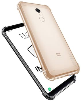 12D Shockproof Bumper Corners for Mi Note 4 / Redmi note 4 Transparent Back Cover (Corner Protection with Air Cushion Technology)