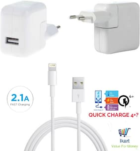 12W Charger For Iphone 6 Mobile Charger (White)